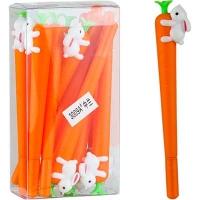 Ручка гелевая синяя морковка NoName 3009А