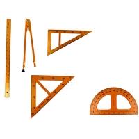 Набор чертежных инструм для доски (линейка 1м,2треуг,транспортир, циркуль) 1-194 3-291(23985)(23880)