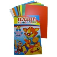 Бумага цветная А5 10л +апликация 3743