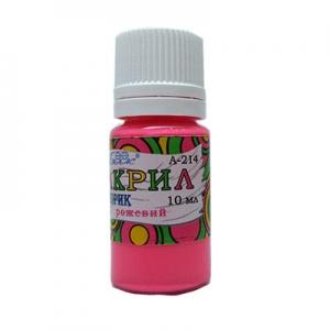 Краска акриловая флуоресцентная розовая 10мл А-214