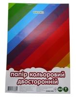 Бумага цветная А4 9л двухсторонняя 55002-KN
