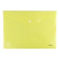 Папка на кнопке А4 Axent Pastelini желтая 1412-08-А