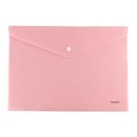 Папка на кнопке А4 Axent Pastelini розовая 1412-10-А