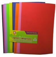 Фоамиран для творчества цветной 10л цена за упак 9-83 (22224)