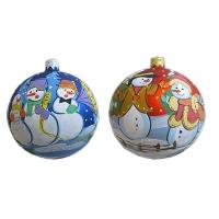Стеклянный шар d100мм Новогодние фантазии МП2