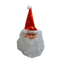 Новогодняя подвеска Дед Мороз 15см пластик 7-206 (1441)
