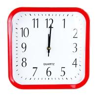 Часы пласт.квадр.р/колор ас. 51995