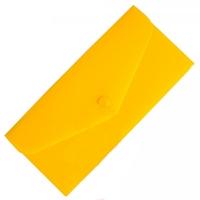 Папка на кнопке евроконверт гориз желтая Е65 N31306-05