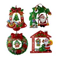 Наклейка новогодняя Санта 5-44 (6167)