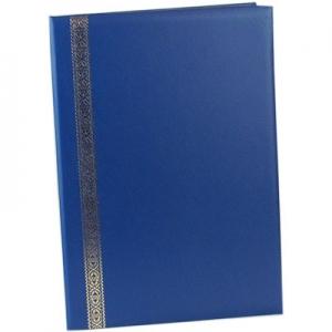 Папка поздравительная Лента бумвинил синяя 221*320 184 02С