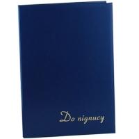 Папка на подпись бумвинил 220*320 синяя 327 02С
