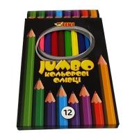 Карандаши цветные 12шт Jumbo ТІКІ 51622-ТК