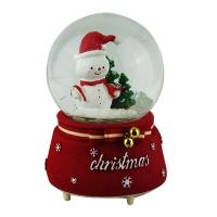 Статуэтка шар снеговик движение со светом под музыку Pioner 92316-PN