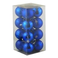 Набор елочных игрушек пластик синие  7см в упак 16шт 91872-PN