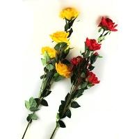 Цветы искусственные Роза 3 бутона на высокой ножке 10-693 (0082) 9-221(82)