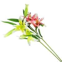 """Цветы искусственные """"Ветка лилии"""" 10-696 (0082)"""