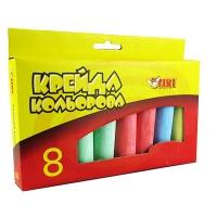 Мел цветной 6цв 8шт TIKI Jumbo в карт уп 51511-ТК