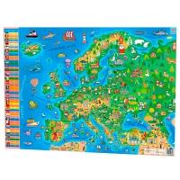 Плакат А1 Детская Карта Европы 120328