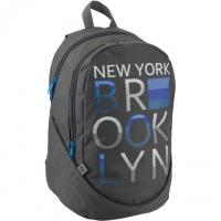 Рюкзак школьный каркасный серый с надписью GoPack 120-1  GO19-120L-1