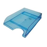 Лоток горизонтальный синий прозрачный пластик ЛГ-04