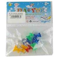 Кнопки гвоздики цветные прозрачные в пакете большие 10-97 (23516)