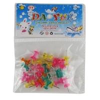 Кнопки гвоздики цветные прозрачные в пакете 10-99 (23516)