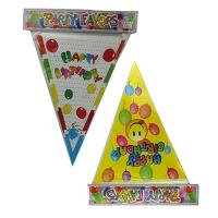Флажки-банер Happy Birthday 5-297 (1517)