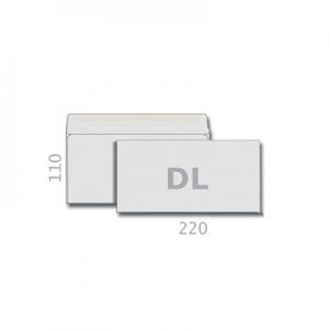 Конверт почтовый DL белый склееный 75 Е65 Т-0111  (2052)
