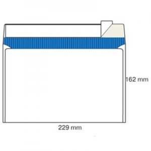 Конверт почтовый С5 белый склееный 80 162*229мм Т-0130 (3452)