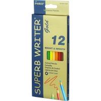 Карандаши цветные 12шт шестигранные Superb Writer Gold Marco 4100G-12CB