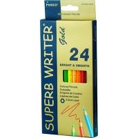Карандаши цветные 24шт шестигранные Superb Writer Gold Marco 4100G-24CB