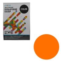 Бумага цветная А4 50л Knopka оранжевый интенсив 80г/м2 OR43