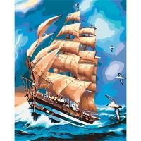 Набор для росписи по номерам 40*50см Морской пейзаж. Во время грозы КНО2712
