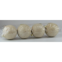 Набор елочных игрушек пластик шар d80мм волна Цена за упак 4 шт
