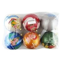 Новогодний пластиковый шар d60мм символ года Цена за упак 6шт