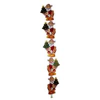 Гирлянда растяжка Дед мороз с елочкой с колокольчиком 5-351 (6244)