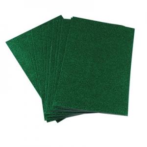 Фоамиран для творчества зеленый глитер уп10шт цена за уп 6-215 24765