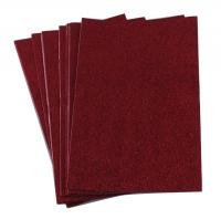 Фоамиран для творчества красный глиттер уп10шт цена за уп 6-215  3-231 24765 (22224)