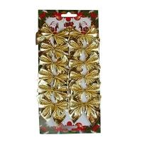 Набор бантиков золото (12шт/уп)  6-61 (6529) 5-360(6527)