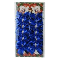 Набор бантиков синие 12 шт/уп цена за уп  6-62 (6529) 5-359 (6527)
