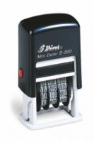 Мини-датер пластиковый дата английский 3мм S-300 Eng