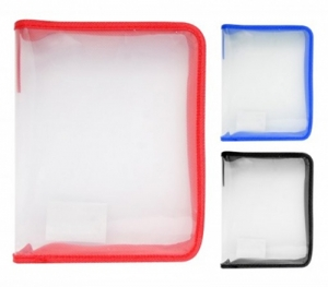 Папка В6 на молнии пластиковая прозрачная 24*18см 30102-KN