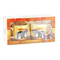 Набор подарочный 2 чашки+ложка Мышки арт АТ-1481 9-699