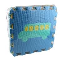 Коврик-Мозаика EVA транспорт 10дет. в кульке М0377
