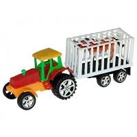 Трактор с прицепом и животными 20-7см А900