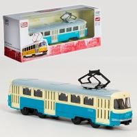 Трамвай метал инерционный 6411С