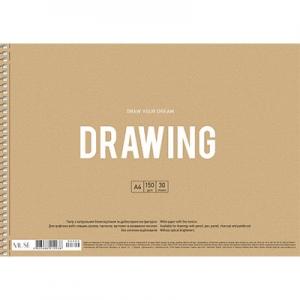 Альбом для рисования А4 30л крафт-картон MUSE PB-SC-030-300