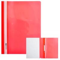 Скоросшиватель А4 Economix глянец красный без перфорации Е31511-03
