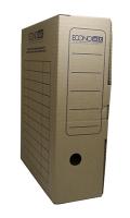 Короб архивный картоный коричневый 100мм Economix 32704-07