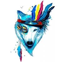 Набор для росписи по номерам 40*50см Животные, птицы. Белая красавица КНО4019
